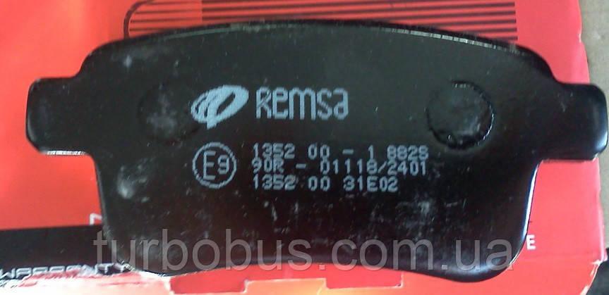 Тормозные колодки задние на Рено Кенго II (2008>) REMSA (Испания) - 1352.00