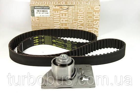 Комплект ремень + ролик ГРМ на Рено Мастер 01-> 1.9dCi — Renault (Оригинал) - 7701477048