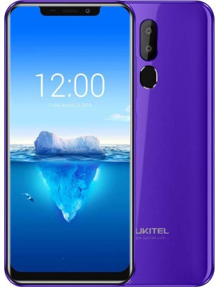 "Смартфон Oukitel C12 2/16Gb Purple, 8+0.3/2Мп, MT6580, 2sim, 6.18"" IPS, 3300мАч, 4 ядра, 3G"