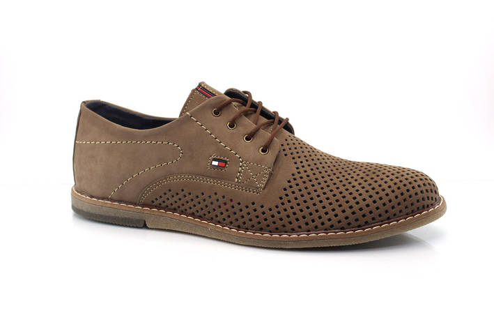 Мужские туфли Multi Shoes сильвер латте перф., фото 2