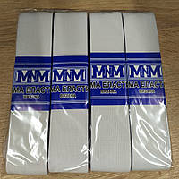 Резинка ПЭ белая 40мм 5м