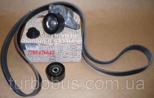 Комплект ремнь генератора + 2 ролика на Рено Мастер III 2010-> 2.3dCi — Renault (Оригинал) 7701476645