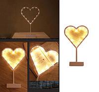 Светодиодный светильник ночник Сердце