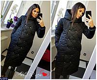Женская Зимняя КУРТКА -Пальто на синтепоне Фреза, Бордо, Синяя, Черная