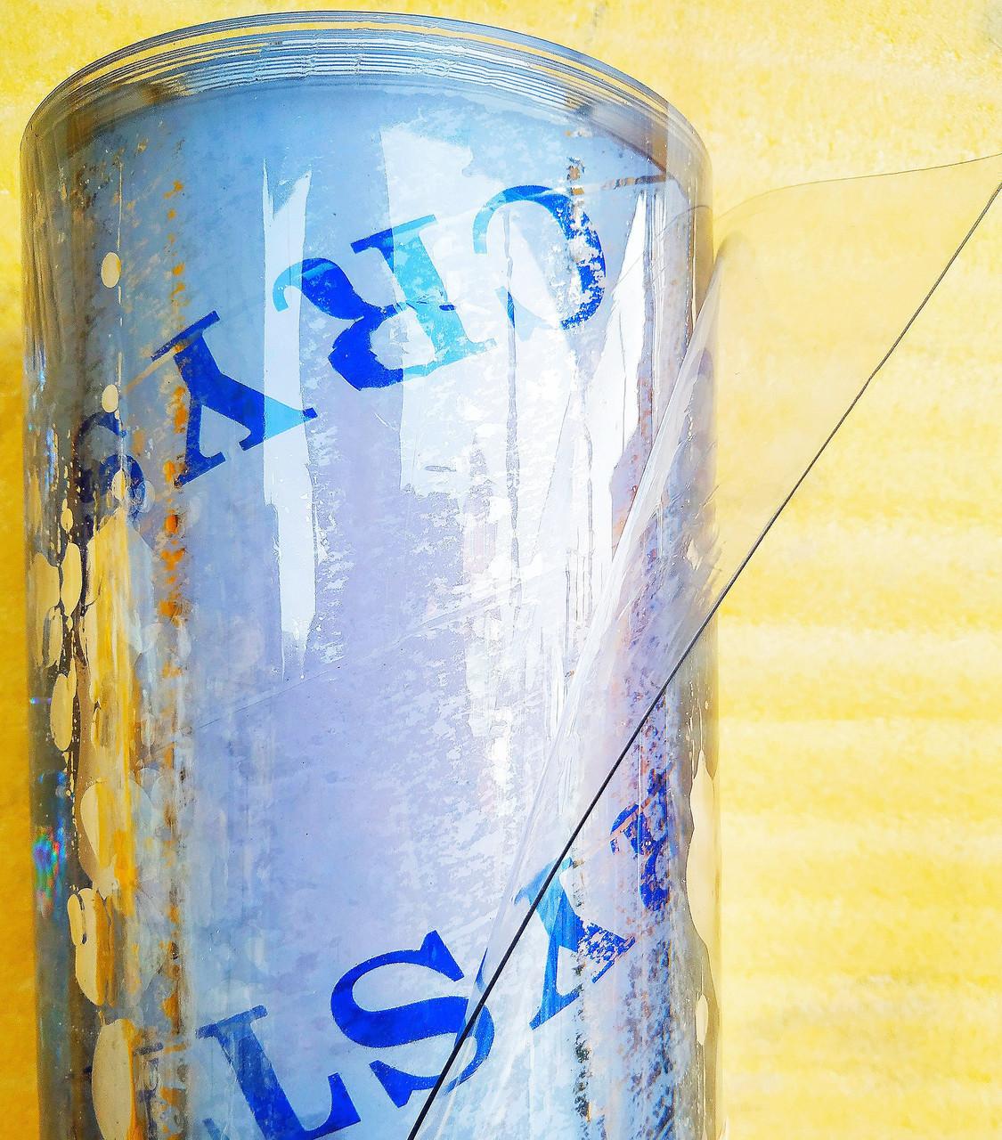 Плівка ПВХ Гнучке скло. \4000 мкм щільність\.Рулон 0,6 м х 10м.. Прозора.