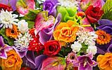 Журнальный стол квадратный с полкой Flowers стеклянный, фото 3