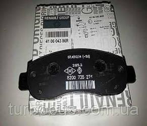 Тормозные колодки передние на Рено Мастер III (c 2010 г.в.) RENAULT (оригинал) 410604386R