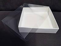 Коробка для пряников с прозрачной крышкой 16*16*3,5 см Галетте - 06931