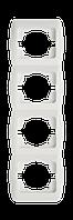 Рамка ABB El-bi ZIRVE Fixline четверная вертикальная белая, Турция