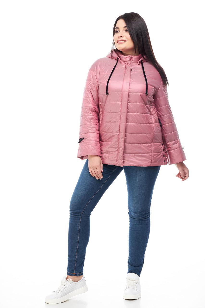 Лёгкая весенняя осенняя женская куртка большого размера размер 48-60