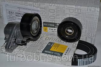 Комплект генератора +AC (ремень+натяжитель) на Рено Кенго 1.4i/1.6i Renault (оригинал) 7701477517