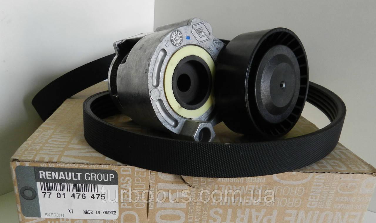 Комплект генератора +AC (ремень+натяжитель) на Рено Кенго 1.5dCi (2001-01.2005) Renault (оригинал) 7701476475