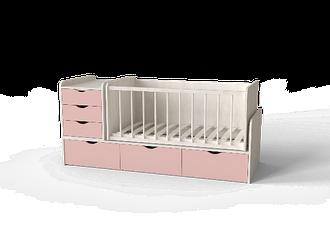 Дитяче ліжко для новонароджених ДМ 504 А Мебекс