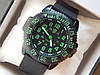 Мужские кварцевые наручные часы Luminox на каучуковом ремешке