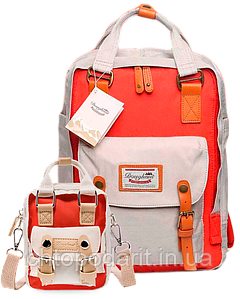 Рюкзак Doughnut коралл + сумочка Doughnut в подарок Код 10-5499