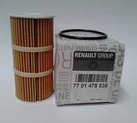 Фильтр масляный Рено Трафик 2.0/2.5 DCI 2006> Renault (оригинал) 7701478538