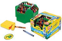 Набор Crayola 152 восковых мелка в пластиковом органайзере,точилка Bluetiful Crayon Case 152-Crayons Крайола