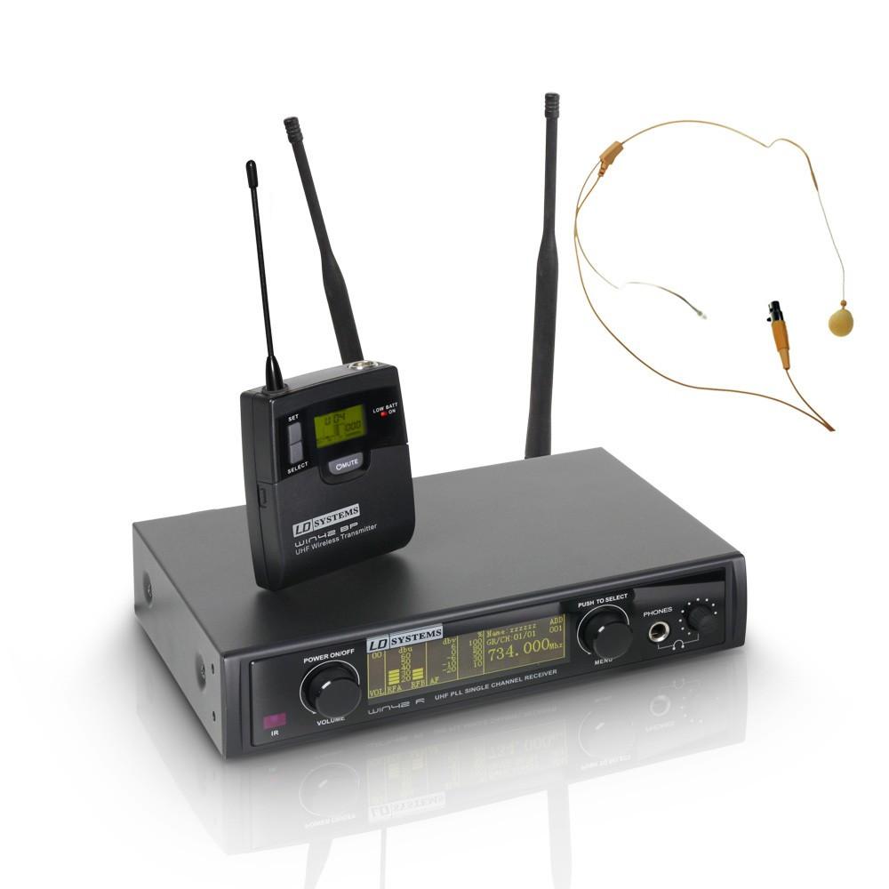 Радиосистема с головной гарнитурой телесного цвета LD Systems WIN42BPHH