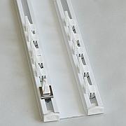 Карниз для штор потолочный ArtHome двухрядный алюминиевый Евро Комплект