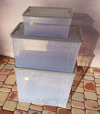 Набор Smart Box Practice 3 шт прозрачные с цветной крышкой, фото 2