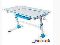 Стол-парта трансформер FunDesk Invito Blue для школы и дома.