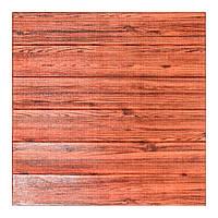 Стеновая 3Д Панель декоративная Красное Дерево (самоклеющиеся 3d панели для стен под дерево оригинал) 700x700x7 мм