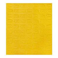 Декоративна 3Д-панель стінова Жовта Цегла (самоклеючі 3d панелі для стін оригінал) 700x770x7 мм