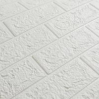 Декоративная 3Д-панель Глянец Белый Кирпич (самоклеющиеся 3d панели для стен оригинал) 700x770x5 мм