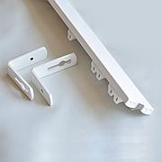Карниз для штор ArtHome двухрядный алюминиевый с кронштейнами Комплект