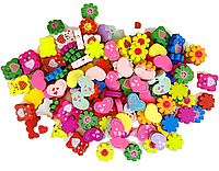 Заготовка для Бизиборда Фигурка 2 см МИКС ВИДОВ Украшение Декор Деталі для Бізіборда мишка бабочка цветочек
