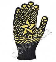 Перчатки трикотажные со звездой черные DOLONI