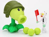 Растения против зомби | Plants vs Zombies Игровой набор №19 Горохострел в каске(Растения стреляют шариками, )
