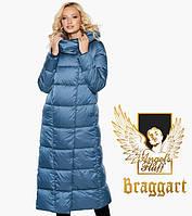 Зимняя длинная куртка воздуховик с капюшоном и поясом Braggart Angel's Fluff, фото 1