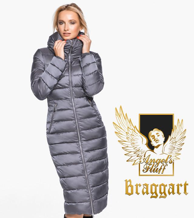 Женский приталенный зимний воздуховик с воротником-стойкой Braggart