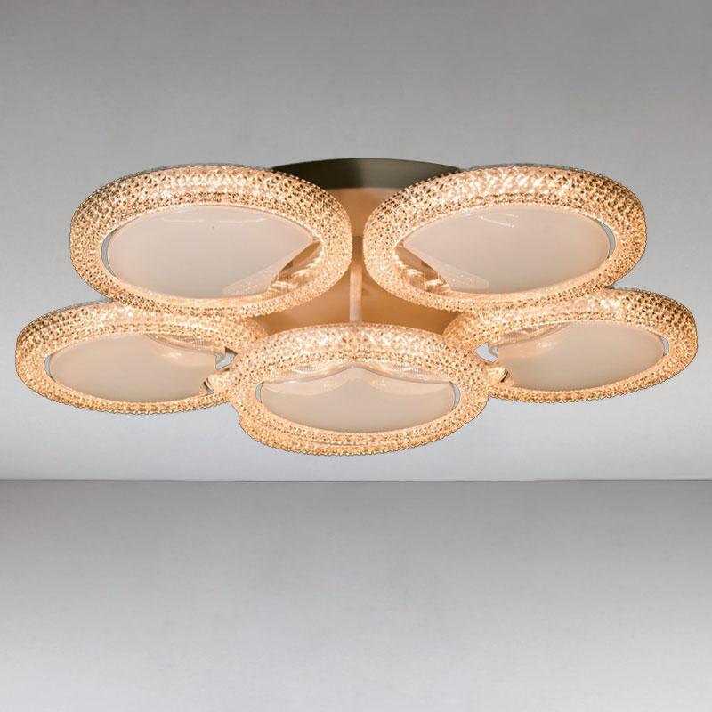 Люстра светодиодная LED DS-MX814382/5WH LED dimmer с диммером и LED подсветкой, цвет белый, 120W