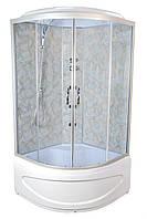 Душевой бокс TKF90 Абстракция BG 90х90х30, тонированное стекло, глубокий поддон, А0045665