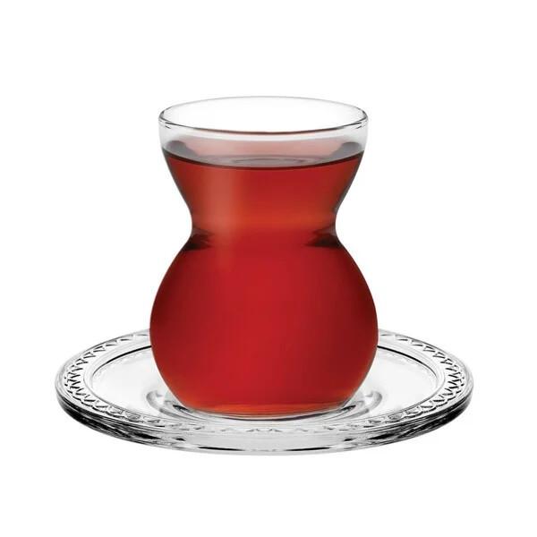 Набор стаканов чайных армуд Etnik 140мл с блюдцами 12пред.
