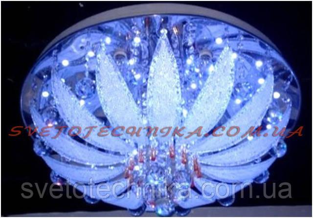 Люстра светодиодная с пультом стекло E27  RGB