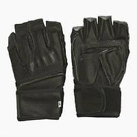 Перчатки для единоборств и MMA с открытыми пальцами SPORTKO Кожвинил
