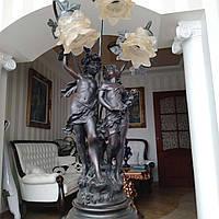 Старинный бронзовый светильник Барокко