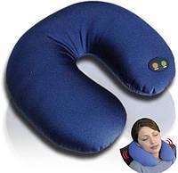 Масажна дорожня подушка Neck Massage Cushion, Антистресова подушка-підголівник масажна, Масажна дорожня/