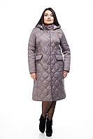 Эксклюзивное женское пальто цвет тёмный кедр, размер 44-64