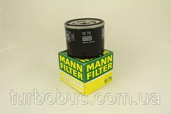 Фильтр масляный Рено Мастер 1.9 dTI / 1.9dCI 80. MANN FILTER (Германия) - W 79