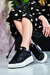 Женские кроссовки Alexand1r McQueen - Glitter Platform 36-40рр. Живое фото. Люкс реплика, фото 4