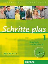 Учебник и рабочая тетрадь Schritte plus 1 Kursbuch + Arbeitsbuch mit Audio-CD zum Arbeitsbuch und interaktiven