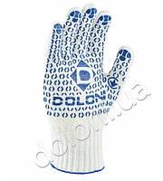 Перчатки трикотажные волна белые DOLONI