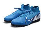 Сороконожки Nike SuperflyX VII Elite TF blue new, фото 3