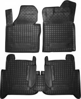 Коврики в салон VW Touran 2010- черный, кт - 4шт