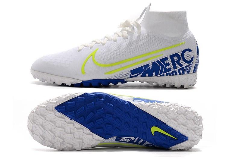 Сороконожки Nike SuperflyX VII Elite TF white/blue new