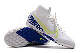Сороконожки Nike SuperflyX VII Elite TF white/blue new, фото 5